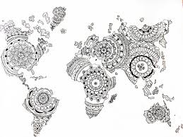 Map Of The World Black And White by Image About In Draw By Thata On We Heart It