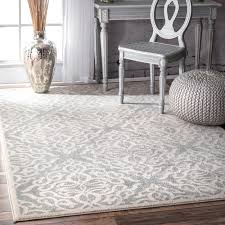 Modern Trellis Rug Silver Orchid Simmons Transitional Modern Fancy Silver Area Rug 5