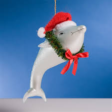 de carlini santa dolphin ornament the cottage shop