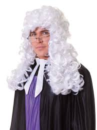 lawyer halloween costumes long white judge court wig fancy dress barrister accessory