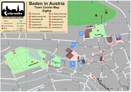 Map Austria Baden In Austria Tourist Map Of Town Center