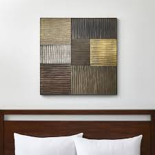 wood pieces for walls wall wood metal and fabric designs crate and barrel
