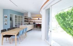 Japanese Modern Interior Design by Lovely Green Wall Integrated In The Design Of A Japanese Modern