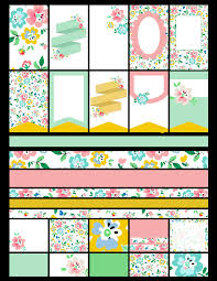 free planner printables floral fun free pretty things for you