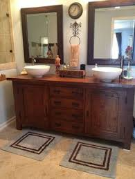 Bathroom Vanity Vessel Sink by I Kind Of Love This Sink Besides Maybe How Dark The Wood Is Or