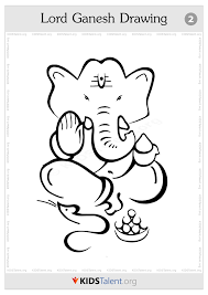 drawn child ganapathi pencil and in color drawn child ganapathi