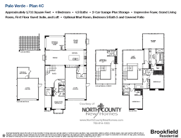 Homes For Sale With Floor Plans Palo Verde At The Foothills New Homes For Sale Floor Plan 4c