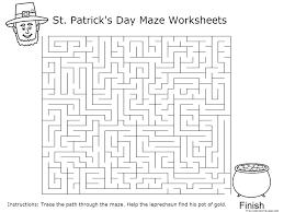 printable st patricks day maze worksheets for kidsfree printable