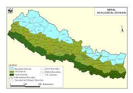 Himalayan Mountains Map Nepal January 2011