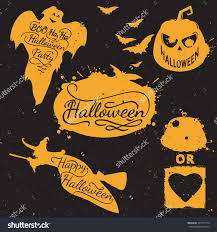 funny halloween party design concept with happy kids in save to a