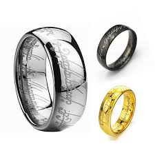 all black rings images Hot selling h letters one ring to rule them all male titanium jpg