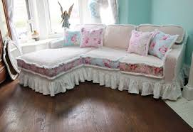 Diy Sofa Cover by Decor Lovely Shabby Chic Slipcovers For Enchanting Furniture