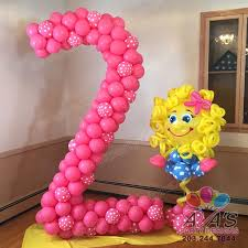 custom balloon bouquet delivery pink pink white polka dot number 2 balloon sculpture