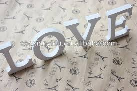 Decorating Wooden Letters Mdf Wooden White Love Letter Free Standing Wedding Decoration