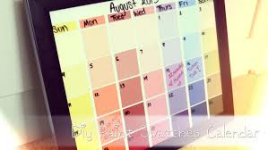 Wall Calendar Organizer Back To Diy Paint Swatches Calendar Youtube