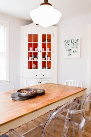 Corner Cabinet Dining Room 25 Trendy Dining Rooms With Spunky Orange