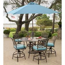 Patio High Table by Turquoise Umbrella Patio Furniture Home Outdoor Decoration