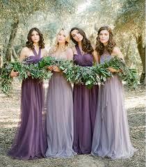 aliexpress com buy purple tulle pleat bridesmaid dresses for