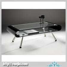 black elegant acrylic perspex coffee table with steel legs