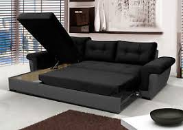 Grey Sofa Bed New Corner Sofa Bed With Storage Black Fabric Grey Leather