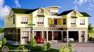 top duplex homes on duplex house elevation kerala home design and