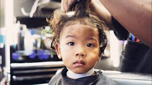 youtube young boys getting haircuts my son s first haircut at a black barbershop youtube