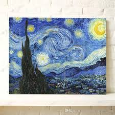 home decoration painting van gogh oil painting starry night impression painting home