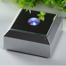 led light base for crystal 78mm silver square led light stand base for jewelry watch laser
