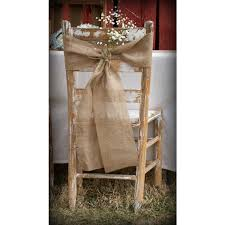 Burlap Chair Sash Burlap Chair Covers And Sashes Available In Natural Burlap Jute