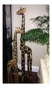 new giraffe flowerpot planter safari home decor giraffe