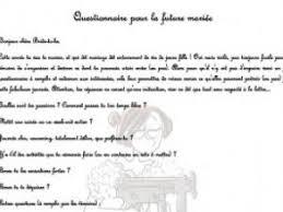 questionnaire mariage comment organiser un un evjf questionnaire pour la future mariée