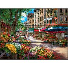 the tile mural store dolphin journey 17 in x 12 3 4 in ceramic paris flower market 17 in x 12 3 4 in ceramic mural