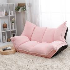 Living Room Furniture Chaise Lounge Adjustable Fabric Folding Chaise Lounge Sofa Chair Floor