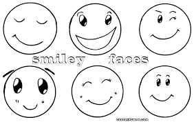 Stylish Design Happy Face Coloring Page Smiley Pages To Download Happy Coloring Pages