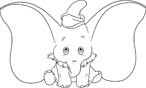 big ears dumbo cartoon coloring pages cartoon coloring pages of