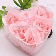 12 boxes pink decorative rose bud petal soap flower wedding favor