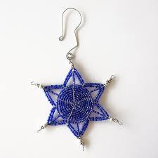 handmade beaded blue bright ornament these delicately beaded