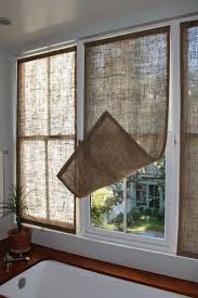 best 25 burlap window treatments ideas on pinterest burlap last week i made some new burlap window coverings for the master bathroom i made three stationary panels from upholstery grade bur