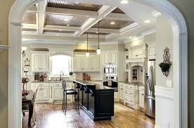 White Painted Cabinets With Glaze by Painted Glazed Kitchen Cabinets Pictures Antique White With Pewter