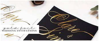 Gold Foil Wedding Invitations Gold Foil Wedding Invitations
