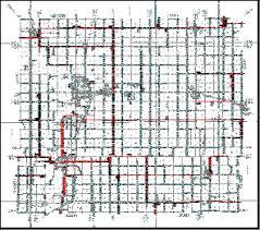 map of allen maps of iola kansas and allen county