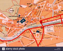 Map Of Spain Cities by Street Map Of The Spanish City Of Burgos Spain Stock Photo
