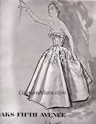 couture allure vintage fashion party dresses 1954