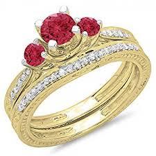 bridal ring bracelet images Dazzlingrock collection 14k yellow gold round ruby jpg