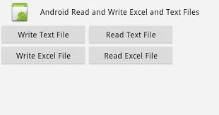 android listview exle android read write excel file using apache poi