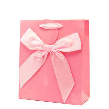 pink gift bags pink gloss gift bag with bow large giftbagshop co uk