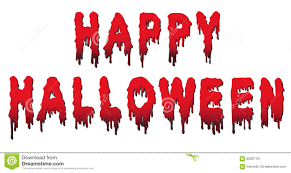 happy halloween words written in blood stock vector image