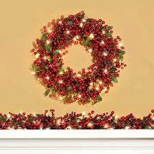 cordless lighted wreaths decoratg cordless lighted