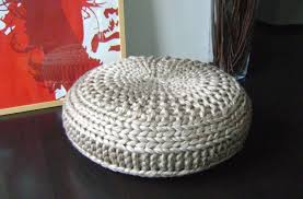 Knitting Home Decor Knitting Pattern Knitted Extra Large Pouf Pattern Poof Knitting