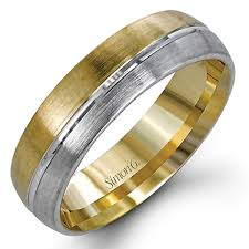 modern mens wedding bands simon g engagement rings two tone men s band 18k beautiful